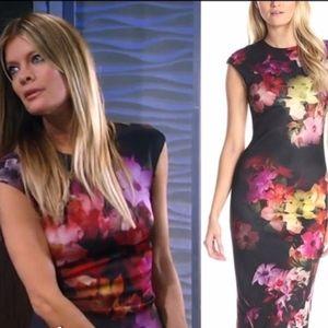 TED BAKER LONDON DRESS KIMONO FLOWERS NWOT U.S. 8